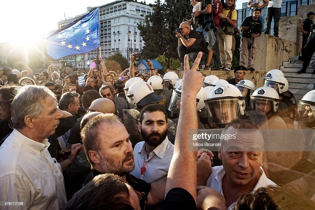 European Union Supporters Demonstrate In Athens As ...