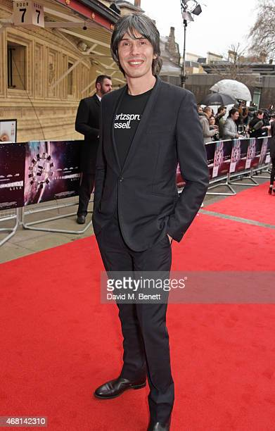Prof Brian Cox attends at a special screening of 'Interstellar Live' at Royal Albert Hall on March 30 2015 in London England