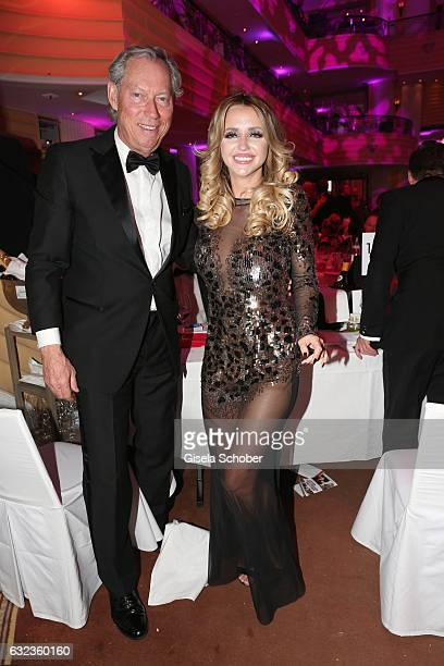 Prof Werner Mang and Cathy Lugner former wife of Richard Lugner during the 44th German Film Ball 2017 party at Hotel Bayerischer Hof on January 21...