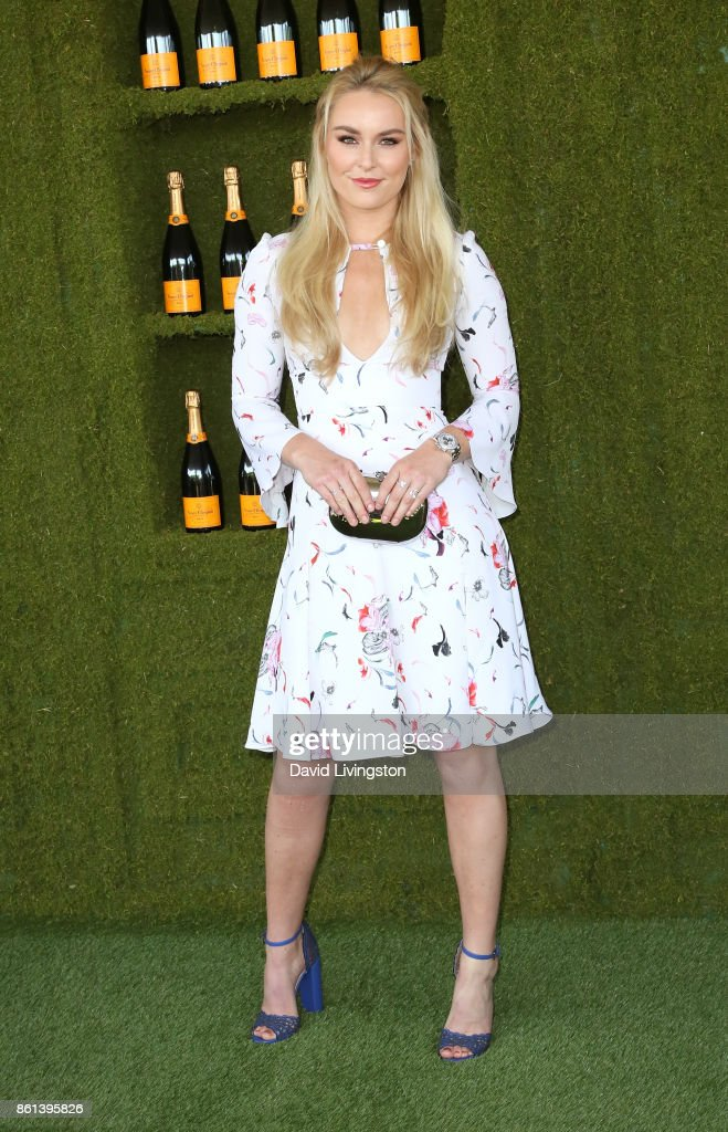 Professional alpine ski racer Lindsey Vonn attends the 8th Annual Veuve Clicquot Polo Classic at Will Rogers State Historic Park on October 14, 2017 in Pacific Palisades, California.
