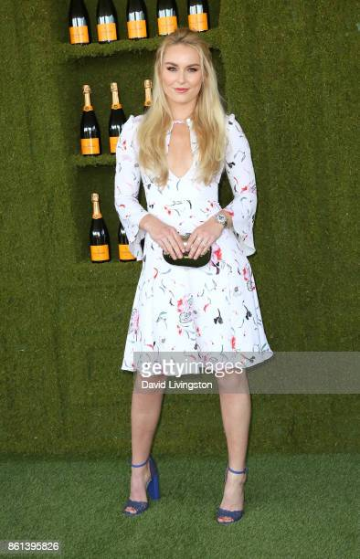 Professional alpine ski racer Lindsey Vonn attends the 8th Annual Veuve Clicquot Polo Classic at Will Rogers State Historic Park on October 14 2017...