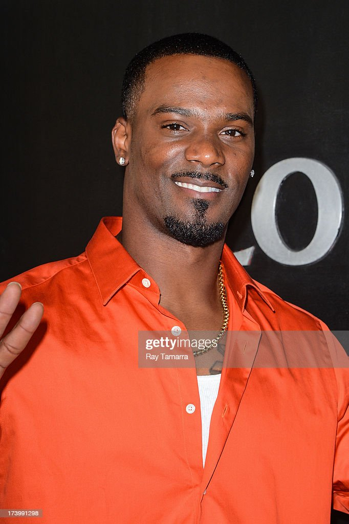Professional athelete Aaron Ross enters the 'Good Day New York' taping at the Fox 5 Studios on July 18, 2013 in New York City.