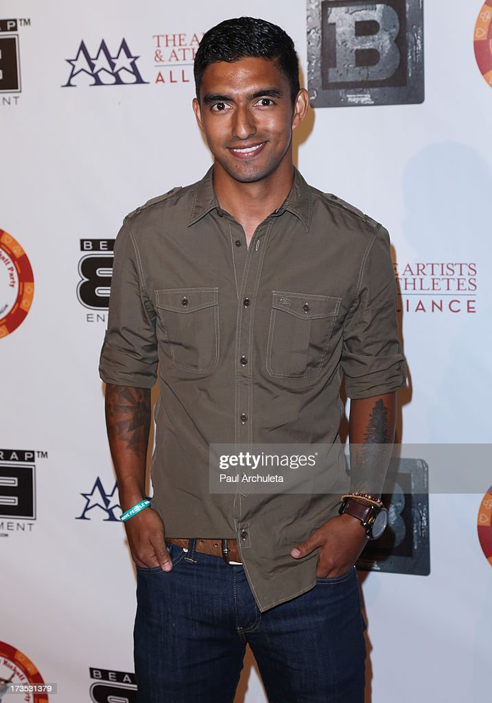Professional Athlete A.J. DeLaGarza attends the 8th annual BTE All-Star Celebrity Kickoff Party at The Playboy Mansion on July 15, 2013 in Beverly Hills, California.