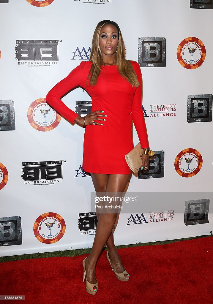 Professional Athlete Kim Glass attends the 8th annual BTE All-Star Celebrity Kickoff Party at The Playboy Mansion on July 15, 2013 in Beverly Hills, California.