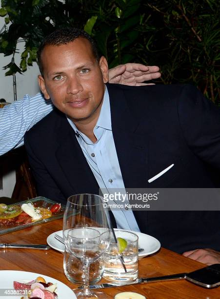 Professional Baseball Player Alex Rodriguez attends the Aby Rosen Samantha Boardman Dinner at The Dutch on December 5 2013 in Miami Beach Florida