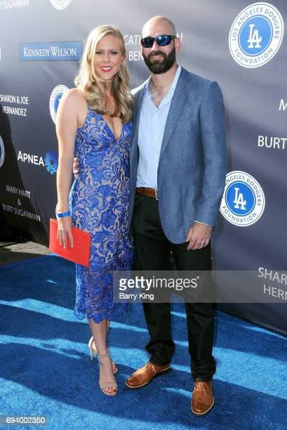 Professional baseball player Chris Hatcher and guest attend Los Angeles Dodgers Foundation's 3rd Annual Blue Diamond Gala at Dodger Stadium on June 8...