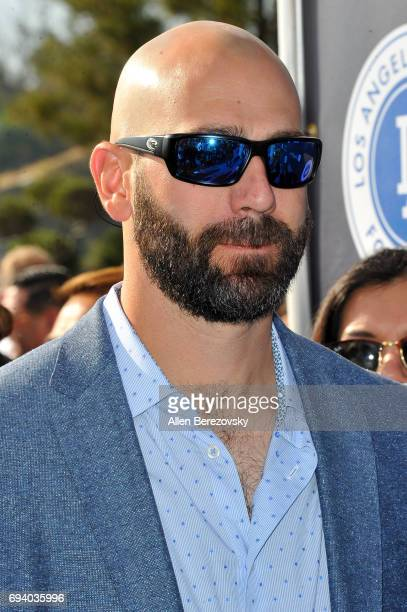 Professional baseball player Chris Hatcher attends Los Angeles Dodgers Foundation's 3rd Annual Blue Diamond Gala at Dodger Stadium on June 8 2017 in...