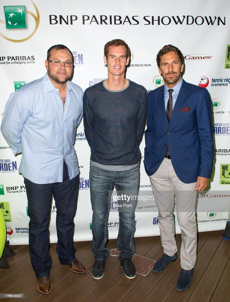 Professional baseball player Joba Chamberlain professional tennis player Andy Murray and professional hockey player Henrik Lundqvist attend the 7th...
