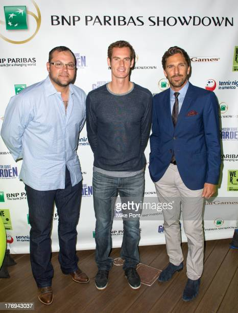 Professional baseball player Joba Chamberlain professional tennis player Andy Murray and professional hockey player Henrik Lundqvist attend the 7th...