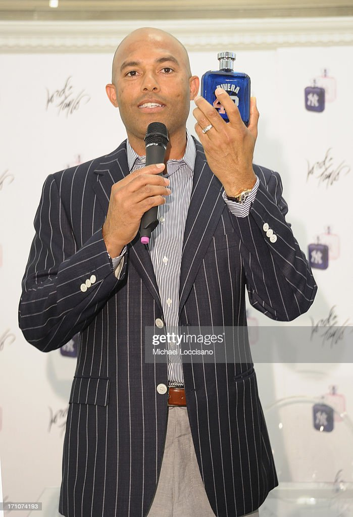 Professional Baseball Player <a gi-track='captionPersonalityLinkClicked' href=/galleries/search?phrase=Mariano+Rivera&family=editorial&specificpeople=201607 ng-click='$event.stopPropagation()'>Mariano Rivera</a> appears for The <a gi-track='captionPersonalityLinkClicked' href=/galleries/search?phrase=Mariano+Rivera&family=editorial&specificpeople=201607 ng-click='$event.stopPropagation()'>Mariano Rivera</a> Signature Limited Edition EDT At Lord & Taylor on June 21, 2013 in New York City.