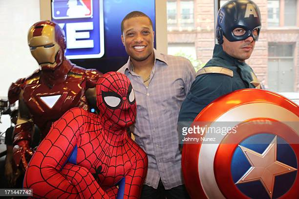 Professional baseball player Robinson Cano attend RC24 Foundation present Super Heroes at the MLB Fan Cave on June 24 2013 in New York City