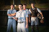 Professional Baseball Player Standing On Field