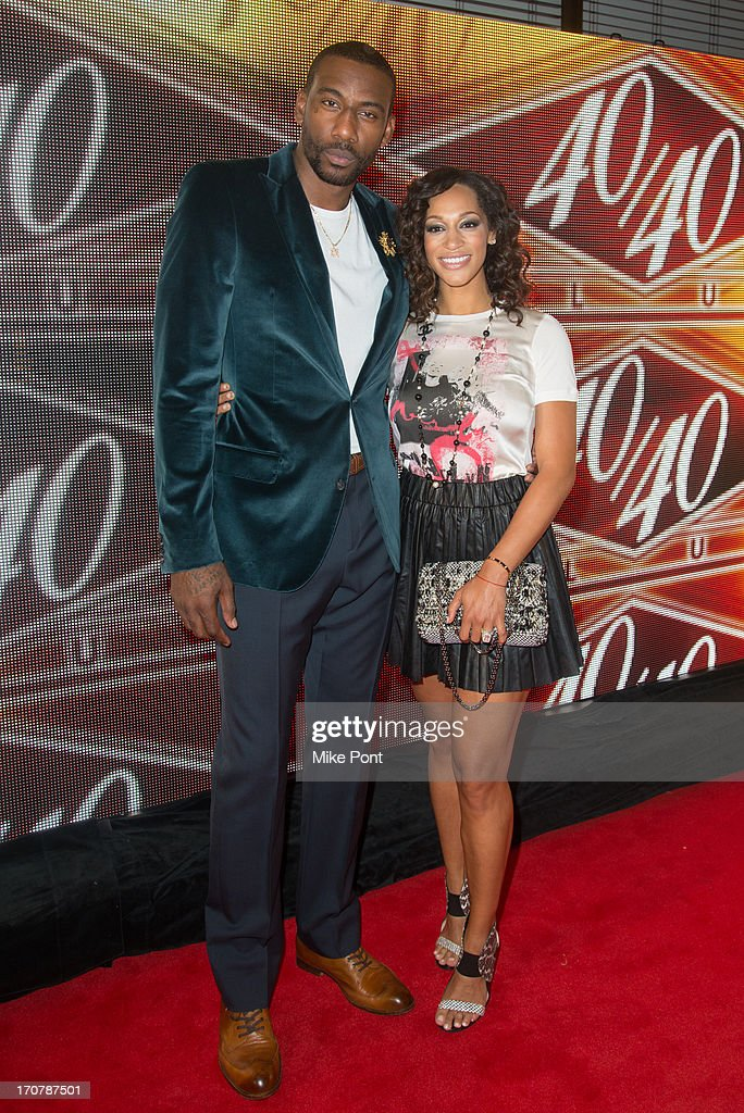 Professional Basketball Player Amare Stoudemire and Alexis Stoudemire attends The 40/40 Club 10 Year Anniversary Party at 40 / 40 Club on June 17, 2013 in New York City.