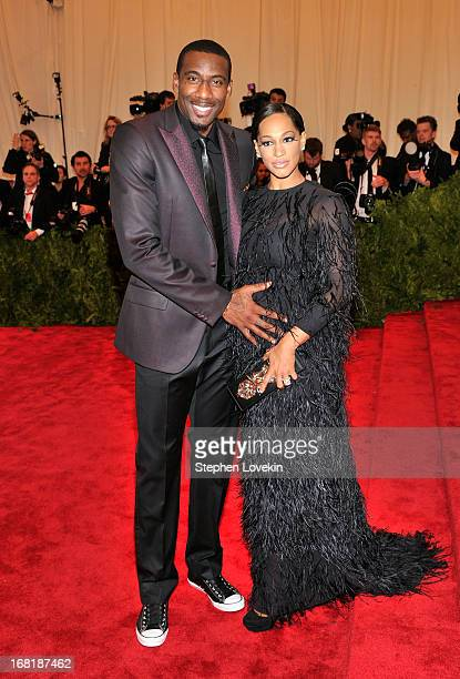 Professional basketball player Amar'e Stoudemire and Alexis Welch attend the Costume Institute Gala for the 'PUNK Chaos to Couture' exhibition at the...