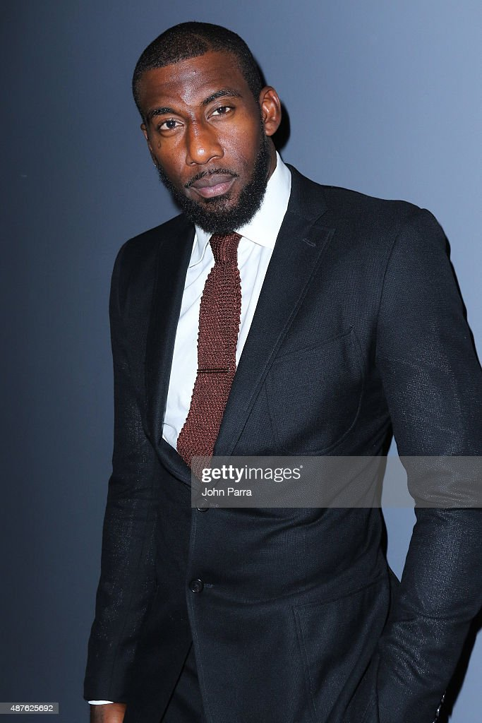 Professional basketball player <a gi-track='captionPersonalityLinkClicked' href=/galleries/search?phrase=Amar%27e+Stoudemire&family=editorial&specificpeople=201492 ng-click='$event.stopPropagation()'>Amar'e Stoudemire</a> attends The Daily Front Row's Third Annual Fashion Media Awards at the Park Hyatt New York on September 10, 2015 in New York City.