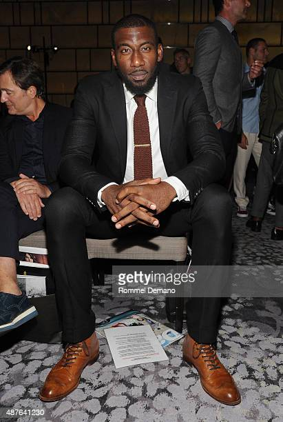 Professional basketball player Amar'e Stoudemire attends The Daily Front Row's Third Annual Fashion Media Awards at the Park Hyatt New York on...