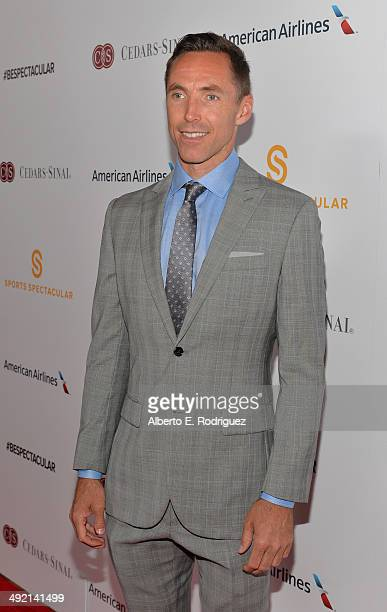 Professional basketball player and honoree Steve Nash arrives on the red carpet at the 2014 Sports Spectacular Gala at the Hyatt Regency Century...