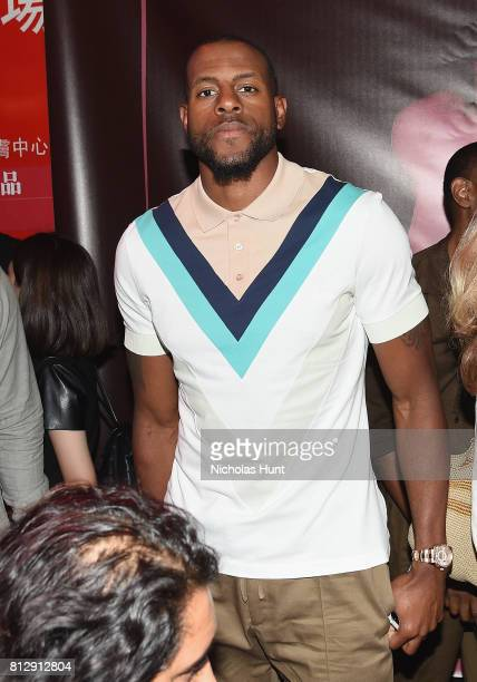 Professional Basketball Player Andre Iguodala attends the Raf Simons Front Row/Backstage at NYFW Men's July 2017 on July 11 2017 in New York City