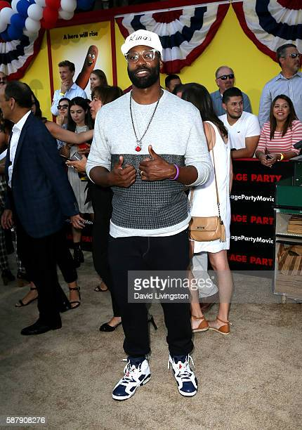 Professional basketball player Baron Davis attends the premiere of Sony's 'Sausage Party' at Regency Village Theatre on August 9 2016 in Westwood...