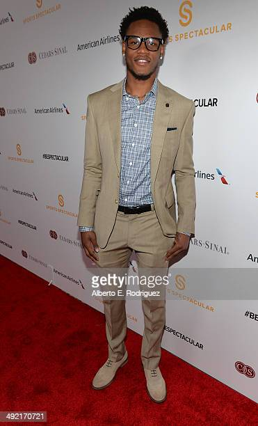 Professional basketball player Ben McLemore arrives on the red carpet at the 2014 Sports Spectacular Gala at the Hyatt Regency Century Plaza on May...