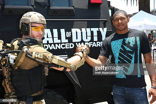 Professional basketball player Bradley Beal arrives at E3 in the Call of Duty Advanced Warfare Uber APC on June 10 2014 in Los Angeles California