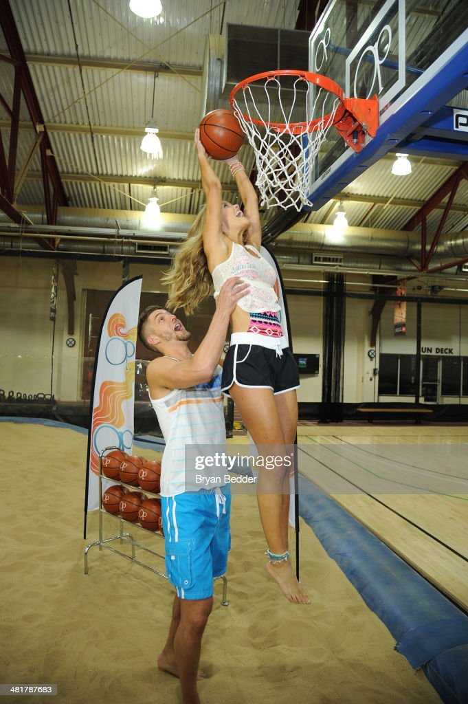 Professional basketball player <a gi-track='captionPersonalityLinkClicked' href=/galleries/search?phrase=Chandler+Parsons&family=editorial&specificpeople=4249869 ng-click='$event.stopPropagation()'>Chandler Parsons</a> and model <a gi-track='captionPersonalityLinkClicked' href=/galleries/search?phrase=Nina+Agdal&family=editorial&specificpeople=7574783 ng-click='$event.stopPropagation()'>Nina Agdal</a> play basketball as Op, <a gi-track='captionPersonalityLinkClicked' href=/galleries/search?phrase=Nina+Agdal&family=editorial&specificpeople=7574783 ng-click='$event.stopPropagation()'>Nina Agdal</a> & <a gi-track='captionPersonalityLinkClicked' href=/galleries/search?phrase=Chandler+Parsons&family=editorial&specificpeople=4249869 ng-click='$event.stopPropagation()'>Chandler Parsons</a> kick off Spring on March 31, 2014 in New York City.