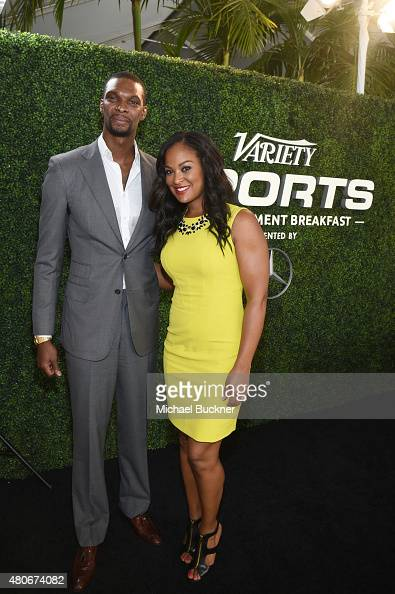 Professional basketball player Chris Bosh and Variety's Female Sports Personality of the Year Laila Ali attend the Variety's Sports Entertainment...