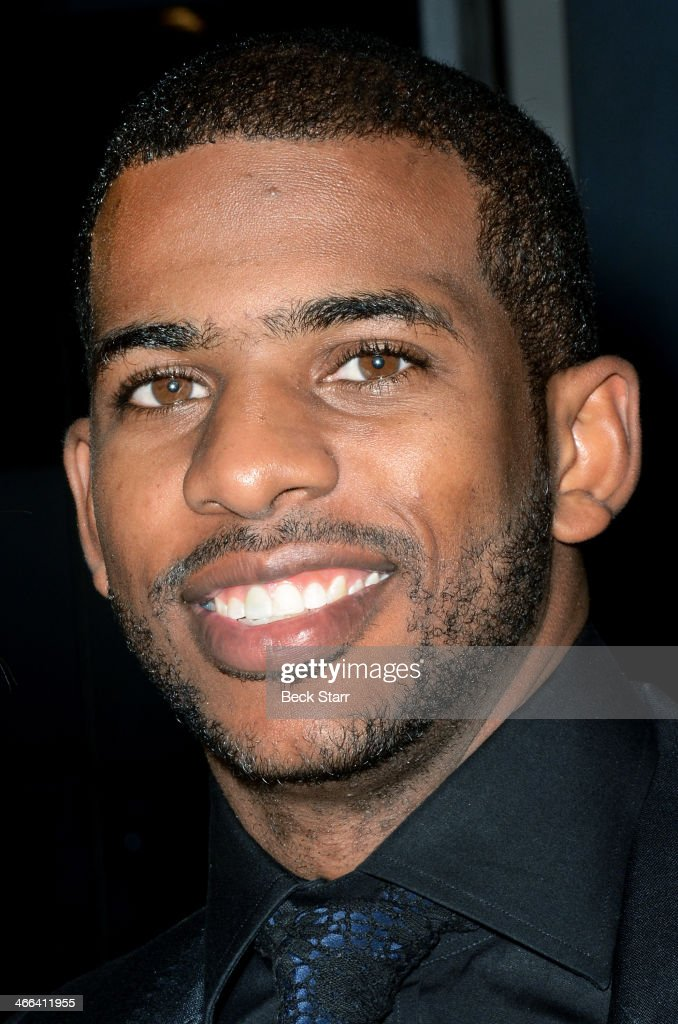 Professional basketball player <a gi-track='captionPersonalityLinkClicked' href=/galleries/search?phrase=Chris+Paul&family=editorial&specificpeople=212762 ng-click='$event.stopPropagation()'>Chris Paul</a> attends Matt Barnes Foundation Athletes Vs. Cancer event at Versace Boutique on January 31, 2014 in Beverly Hills, California.