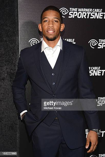 Professional basketball player Darius Morris attends Time Warner Sports Celebrates Launch Of Time Warner Cable Sportsnet And Time Warner Cable...