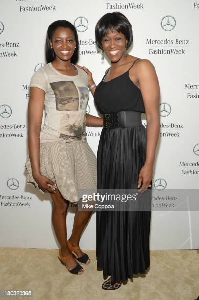 Professional basketball player DeLisha MiltonJones and Taj McWilliamsFranklin attend the MercedesBenz Star Lounge during MercedesBenz Fashion Week...