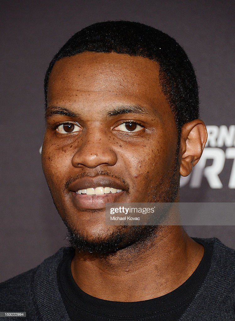 Professional basketball player <a gi-track='captionPersonalityLinkClicked' href=/galleries/search?phrase=Devin+Ebanks&family=editorial&specificpeople=5293899 ng-click='$event.stopPropagation()'>Devin Ebanks</a> attends Time Warner Sports Celebrates Launch Of Time Warner Cable Sportsnet And Time Warner Cable Deportes Networks at Time Warner Cable Sports Studios on October 1, 2012 in El Segundo, California.