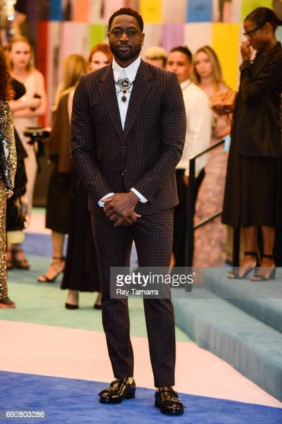 Professional basketball player Dwyane Wade enters the CFDA Fashion Awards at Hammerstein Ballroom on June 5 2017 in New York City