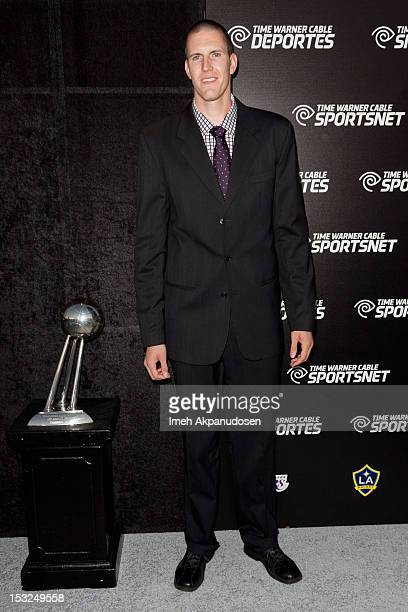 Professional basketball player Greg Somogyi attends the Time Warner Cable Sports launch of Time Warner Cable SportsNet And Time Warner Cable Networks...