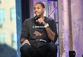 Professional basketball player in the NBA with the New York Knicks Carmelo Anthony speaks at AOL Build Presents Carmelo Anthony at AOL Studios In New...