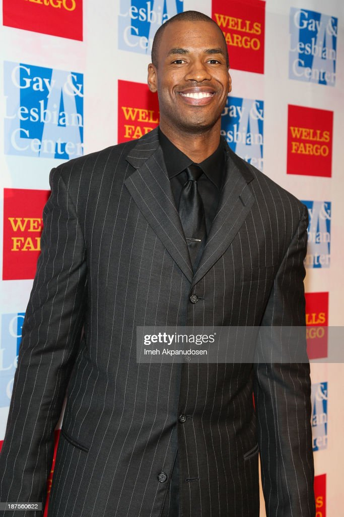 Professional basketball player <a gi-track='captionPersonalityLinkClicked' href=/galleries/search?phrase=Jason+Collins+-+Basketball+Player&family=editorial&specificpeople=201926 ng-click='$event.stopPropagation()'>Jason Collins</a> attends the L.A. Gay & Lesbian Center's 42nd Anniversary Vanguard Awards Gala at Westin Bonaventure Hotel on November 9, 2013 in Los Angeles, California.