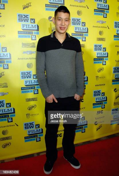 Professional basketball player Jeremy Lin arrives at the screening of 'Linsanity' during the 2013 SXSW Music Film Interactive Festival at Vimeo on...
