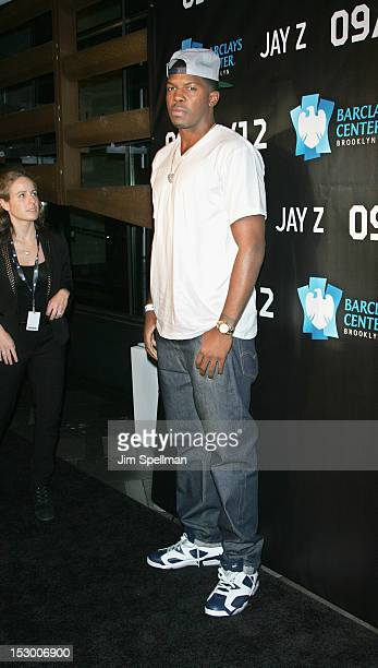 Professional basketball player Joe Johnson attends JayZ in concert at the Barclays Center on September 28 2012 in the Brooklyn borough of New York...
