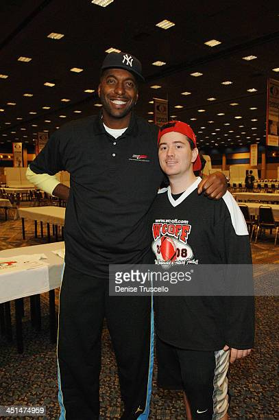 Professional basketball player John Salley and Robert Z Man Zarzycki attend the 2008 World Championship of Fantacy Football Celebrity League at the...