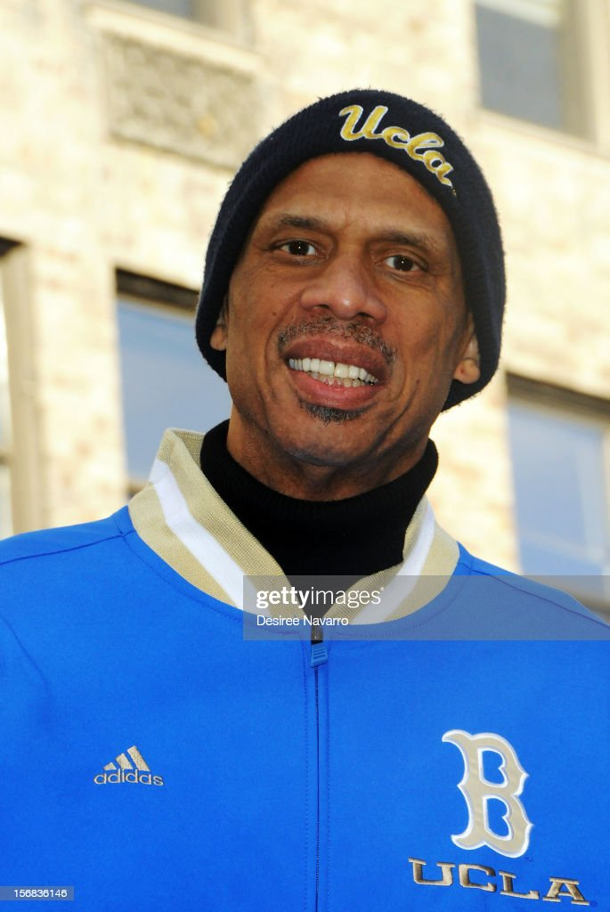 Professional basketball player Kareem Abdul-Jabbar attends 86th Annual Macy's Thanksgiving Day Parade on November 22, 2012 in New York City.