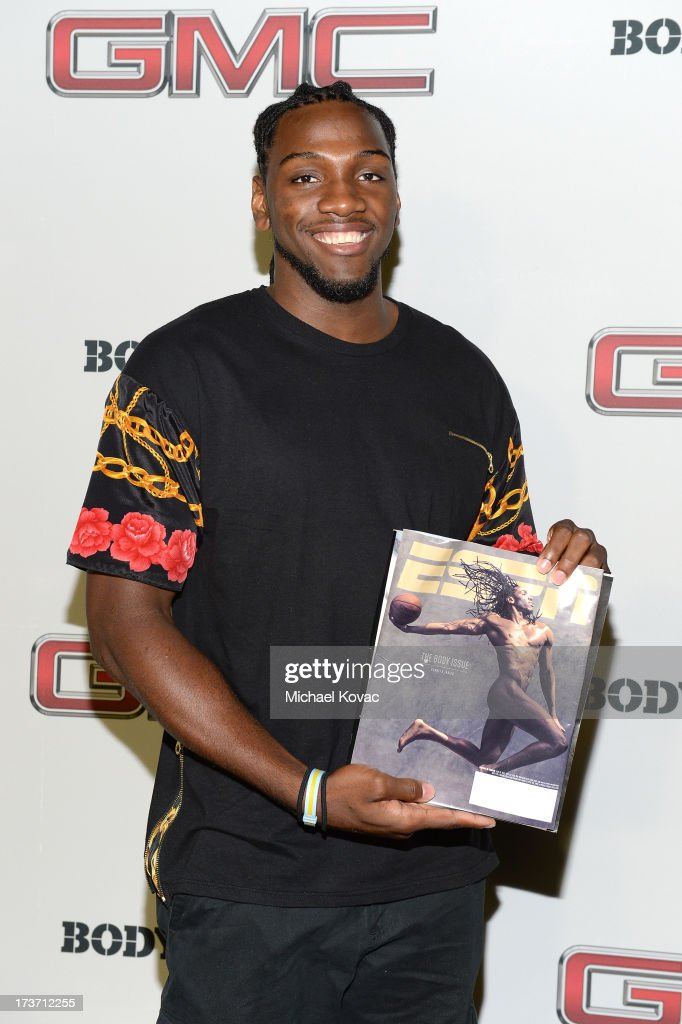 Professional basketball player Kenneth Faried attends ESPN The Magazine 5th annual 'Body Issue' party at Lure on July 16, 2013 in Hollywood, California.