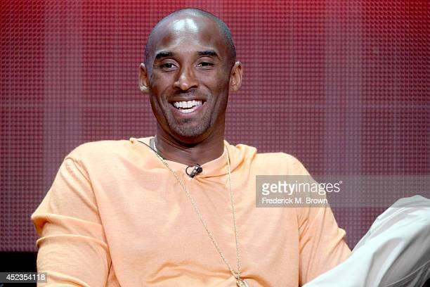 Professional basketball player Kobe Bryant speaks onstage at the 'Kobe Bryant's Muse' panel during the SHOWTIME Network portion of the 2014 Summer...