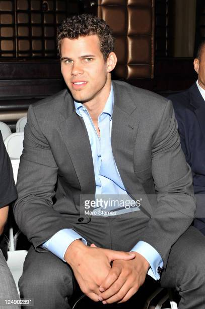 Professional basketball player Kris Humphries attends the Richie Rich Spring 2012 fashion show during MercedesBenz Fashion Week at Lavo on September...