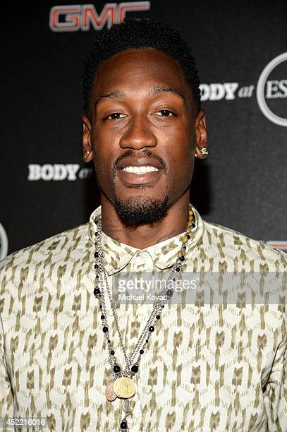 Professional basketball player Larry Sanders attends the Body at ESPYS PreParty at Lure on July 15 2014 in Hollywood California