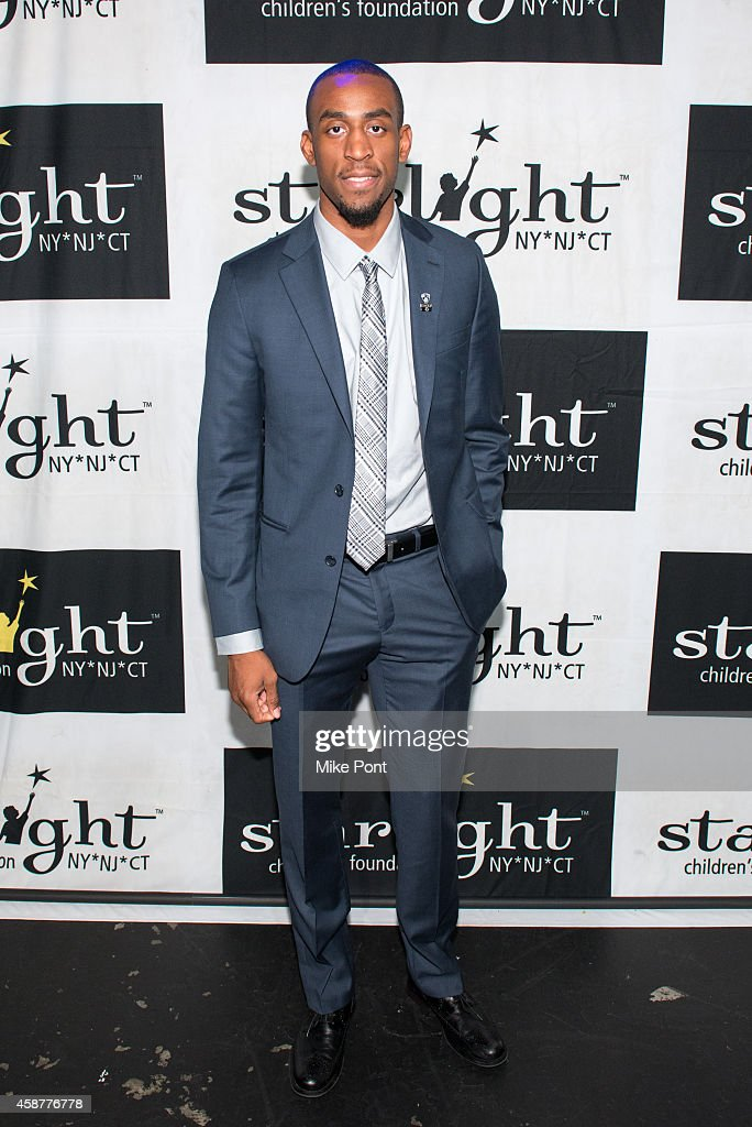 Professional basketball player <a gi-track='captionPersonalityLinkClicked' href=/galleries/search?phrase=Markel+Brown&family=editorial&specificpeople=7542399 ng-click='$event.stopPropagation()'>Markel Brown</a> attends the Starlight Children's Foundation 25th Annual Sports Auction at Hard Rock Cafe - Times Square on November 10, 2014 in New York City.