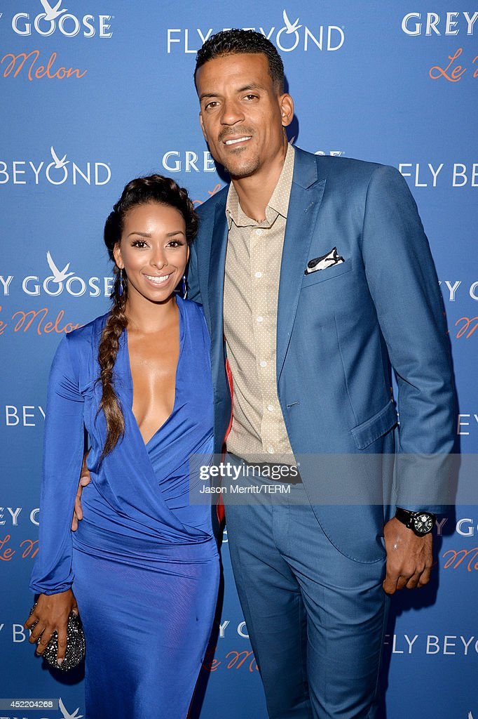 Professional basketball player <a gi-track='captionPersonalityLinkClicked' href=/galleries/search?phrase=Matt+Barnes+-+Basketball+Player&family=editorial&specificpeople=202880 ng-click='$event.stopPropagation()'>Matt Barnes</a> (R) and <a gi-track='captionPersonalityLinkClicked' href=/galleries/search?phrase=Gloria+Govan&family=editorial&specificpeople=7070564 ng-click='$event.stopPropagation()'>Gloria Govan</a> at Carmelo Anthony Kehinde Wiley Dinner Hosted by GREY GOOSE at Sunset Tower on July 15, 2014 in West Hollywood, California.