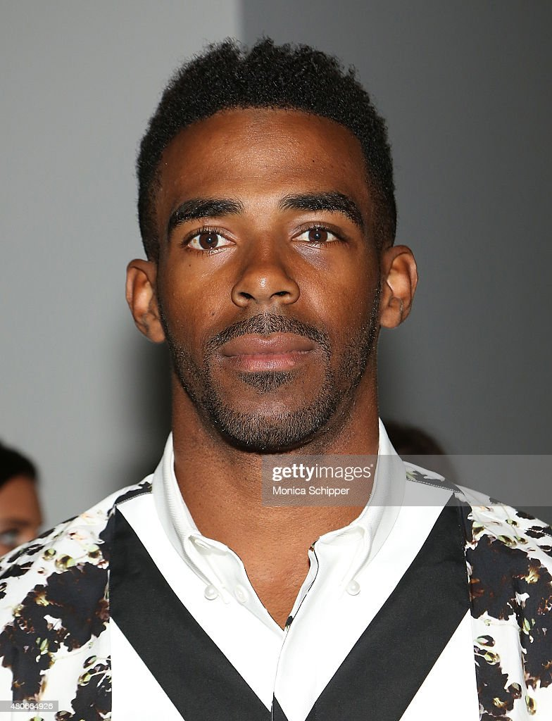 Professional basketball player Mike Conley attends the Public School Presentation during New York Fashion Week: Mens S/S 2016 at Skylight Clarkson Sq on July 14, 2015 in New York City.