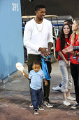 Professional basketball player Nick Young and his son Nick Young Jr attend Clayton Kershaw's 2nd Annual Ping Pong 4 Purpose charity event benefiting...