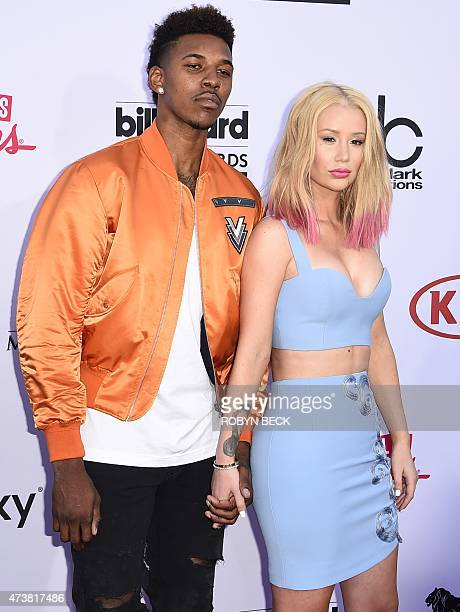 Professional basketball player Nick Young and Iggy Azalea attend the 2015 Billboard Music Awards May 17 at the MGM Grand Garden Arena in Las Vegas...