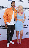 Professional basketball player Nick Young and singer Iggy Azalea arrive at the 2015 Billboard Music Awards at MGM Garden Arena on May 17 2015 in Las...