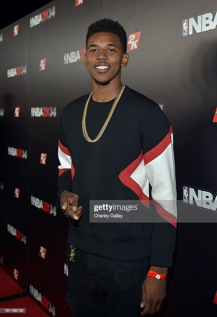 Professional basketball player Nick Young attends the NBA 2K14 premiere party at Greystone Manor on September 24, 2013 in West Hollywood, California.